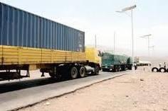 camion remorqueur sur la Route d'Arta